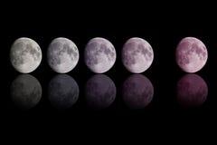 梯度在黑色的颜色月亮 图库摄影