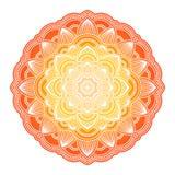 梯度坛场 圈子种族装饰品 手拉的传统印度圆的元素 精神凝思瑜伽无刺指甲花 向量例证
