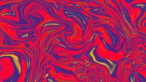 梯度抽象五颜六色的背景与视觉幻觉的和波浪上油作用, 3d翻译 股票录像