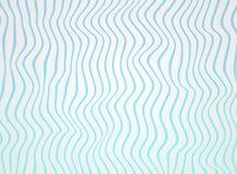 梯度海蓝线摘要在毛面的样式,软绵绵地白色挥动 免版税库存照片