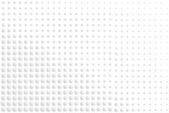 梯度白色和灰色圆的小点抽象七高八低的表面纹理  向量例证, EPS10 皇族释放例证