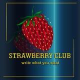 梯度草莓-商标,俱乐部商标,兴趣 免版税库存照片