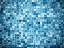 梯度蓝色色的锦砖 库存照片