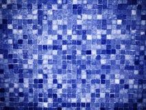 梯度蓝色色的锦砖 免版税库存图片