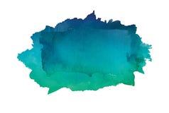 梯度水彩艺术被隔绝的手油漆  免版税库存照片