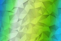 梯度3D多角形表面 免版税库存图片