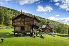 梯级教会在挪威 免版税库存图片