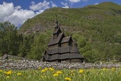 梯级教会Borgund 免版税库存图片