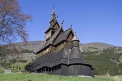 梯级教会Hopperstad 库存照片