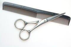 梳子剪刀 库存照片