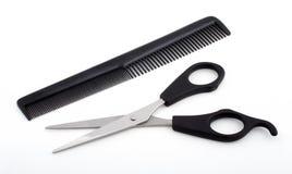 梳子剪刀 库存图片