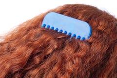 梳子头发 免版税库存照片