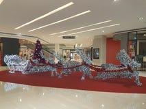 梳邦再也12月15日2016年 在Da人商业区的圣诞节deco 库存照片