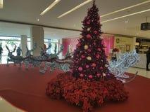 梳邦再也12月15日2016年 在Da人商业区的圣诞节deco 库存图片