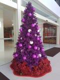 梳邦再也12月15日2016年 在Da人商业区的圣诞节deco 免版税库存图片