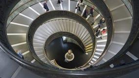 梵蒂冈内部台阶 库存照片