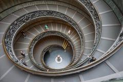 梵蒂冈博物馆台阶 免版税库存照片