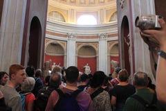 梵蒂冈博物馆和西斯廷教堂 库存图片