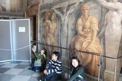 梵蒂冈博物馆和西斯廷教堂 库存照片