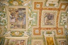 梵蒂冈博物馆天花板,罗马 库存照片