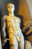梵蒂冈博物馆男性雕象细节  库存图片