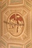 梵蒂冈博物馆美好的被设计的内部  免版税库存图片