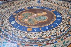 梵蒂冈博物馆铺磁砖的地板  库存照片