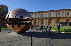 梵蒂冈博物馆,地标,反射,建筑学,旅游胜地 免版税图库摄影