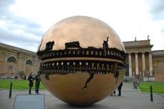 梵蒂冈博物馆,意大利,圆顶,天空,大厦,旅游业 库存照片