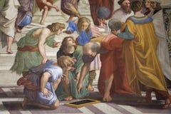 梵蒂冈博物馆,穆塞伊Vaticani,是梵蒂冈的公开艺术和雕塑博物馆,从前的标题字排版 库存图片