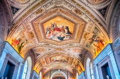 梵蒂冈博物馆,罗马-意大利 库存图片