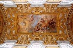 梵蒂冈博物馆-在天花板的绘画 免版税库存图片