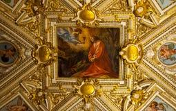 梵蒂冈博物馆-天花板 免版税库存图片