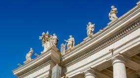 梵蒂冈圣皮特圣徒・彼得` s正方形 免版税库存图片