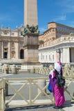梵蒂冈圣皮特圣徒・彼得` s正方形 免版税图库摄影