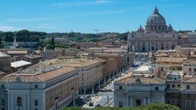 梵蒂冈圣皮特圣徒・彼得` s正方形 库存图片