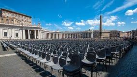 梵蒂冈圣皮特圣徒・彼得` s正方形 免版税库存照片