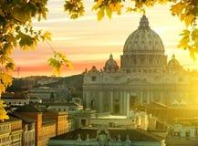 梵蒂冈在秋天 免版税库存照片