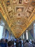 梵蒂冈地图博物馆画廊  免版税库存照片