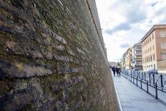梵蒂冈墙壁 库存图片