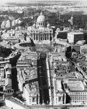 梵蒂冈如从上面被看见(所有人被描述不更长生存,并且庄园不存在 供应商保单那里w 免版税库存图片