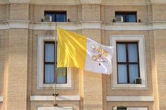 梵蒂冈旗子 图库摄影