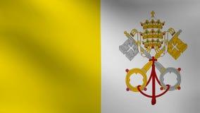 梵蒂冈旗子 库存例证