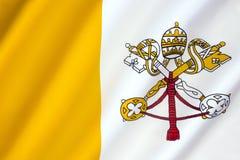 梵蒂冈旗子 免版税库存照片