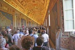 梵蒂冈游人,意大利 库存图片