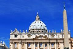 梵蒂冈的圣伯多禄的广场 库存图片