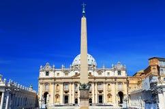 梵蒂冈的圣伯多禄的广场 库存照片