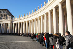 梵蒂冈线 库存图片