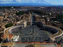 梵蒂冈美妙的视图 免版税图库摄影