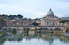 梵蒂冈视图 库存图片